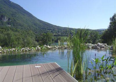 Réalisation de bassin de baignade style nature