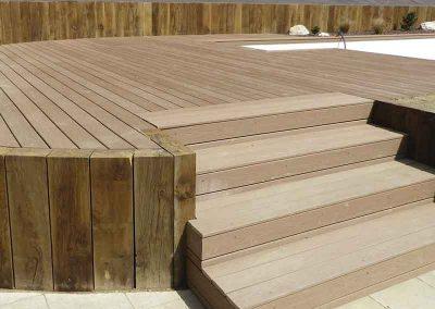 Escalier en bois composite