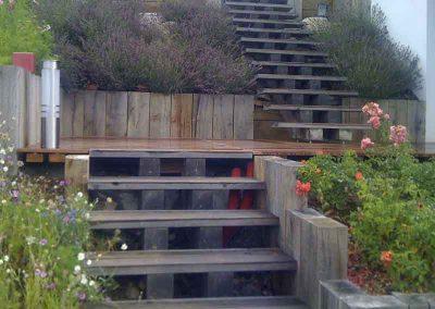 Escalier en bois type aérien