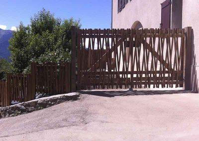 Clôture et portail en bois