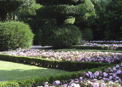 Jardin du Prieuré, fleurissement