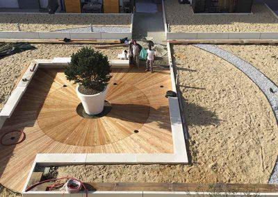 Platelage bois de grande taille