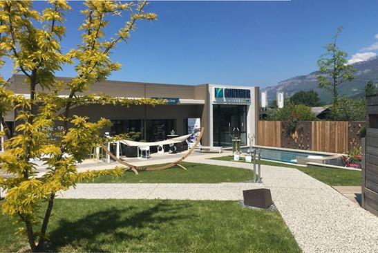 Le jardin piscine