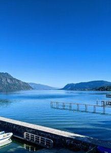 ciel bleu lac bourget savoie