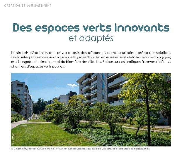 La PRESSE en parle… Des espaces verts innovants