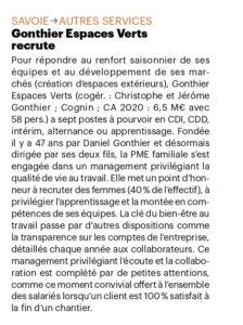 Bref Eco 2446 Gonthier recrute